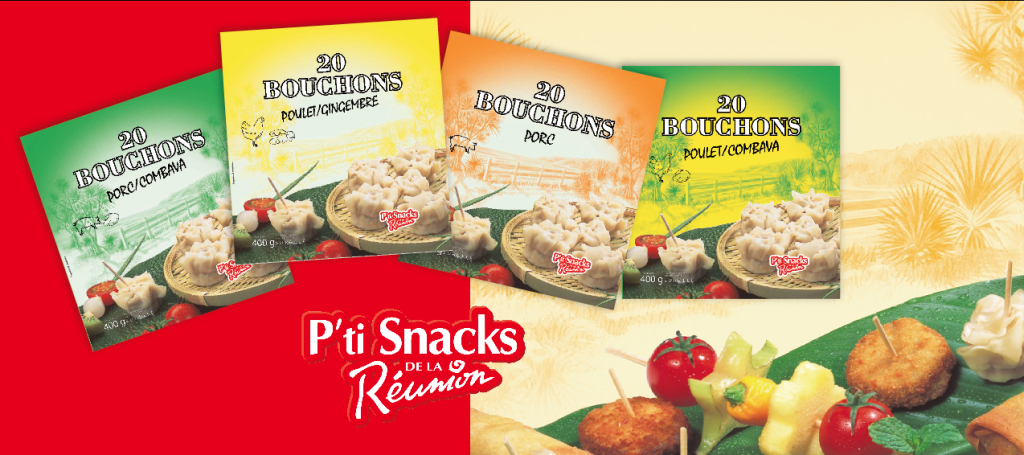 gamme 20 bouchons pti snacks de la réunion